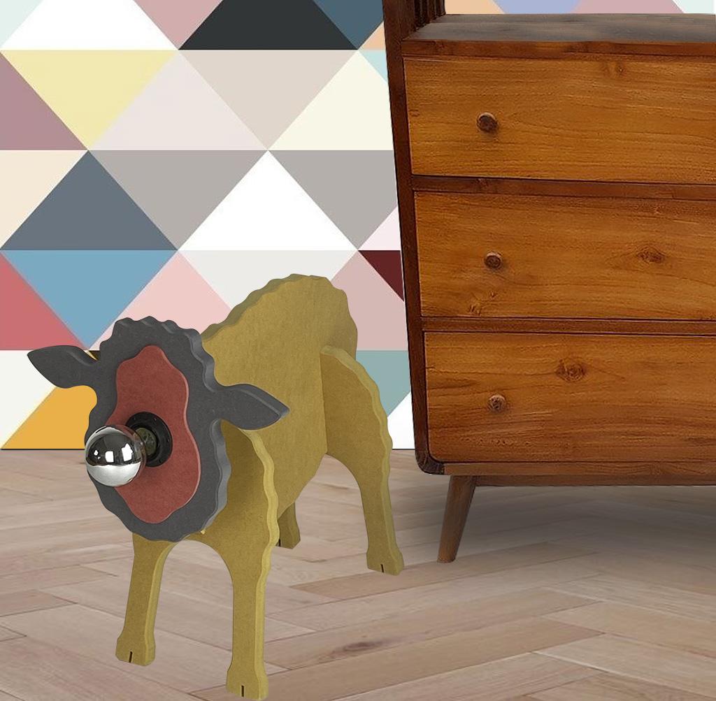 Lampe mouton en bois et en couleur - Chevalier Créations - La minute déco